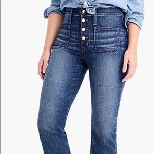 J Crew POINT SUR High Rise Raw Hem Jeans Size 30